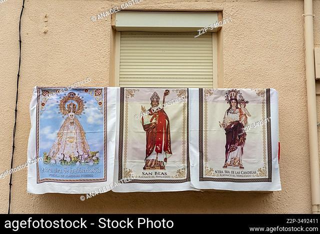 ALMONACID DEL MARQUESADO CUENCA CASTILLA SPAIN ON FEBRUARY 2, 2020: La Endiablada, which roughly translates as â. œThe Brotherhood of the Devilsâ