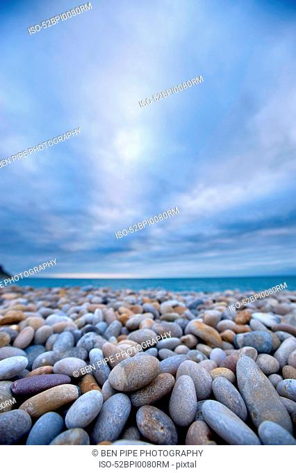 Close up of rocks on beach
