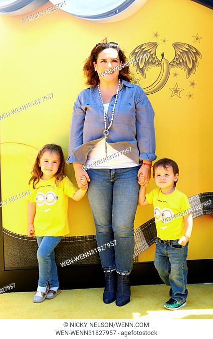 'Despicable Me 3' Premiere - Arrivals Featuring: Angelica Padron, Angelica Vale, Daniel Vale Where: Los Angeles, California