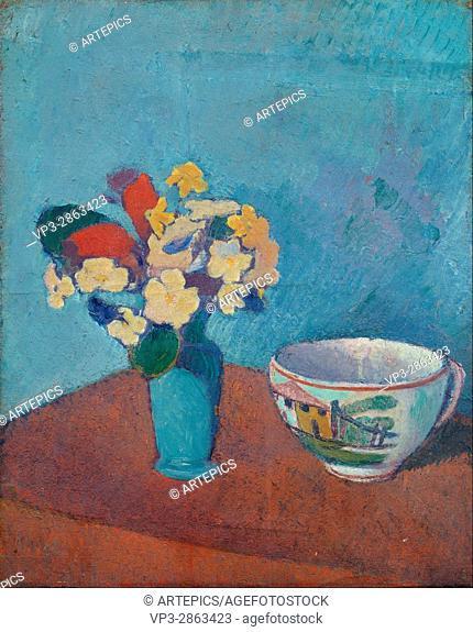Emile Bernard - Vase with flowers and cup - Van Gogh Museum, Amsterdam