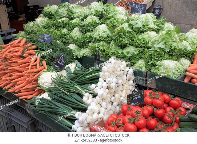 France, Bourgogne, Dijon, market, food, vegetables