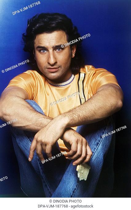 1998, Portrait Of Indian film actor Saif Ali Khan