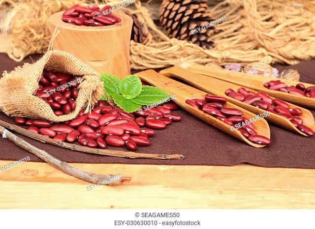 Dried red beans for cooking