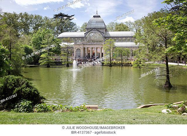 Crystal Palace in Buen Retiro Park, Madrid, Spain