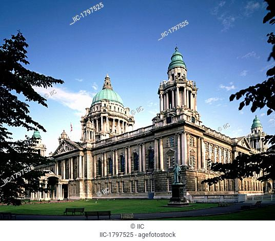 Facade Of A Government Building, Belfast, Northern Ireland