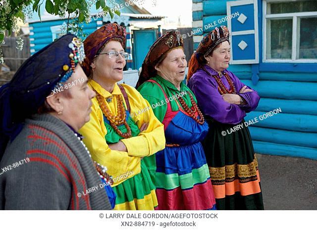 Russia. Tarbagatai. A Buryat Village or 'Old Believers', members of the Bilina Ladies Choir