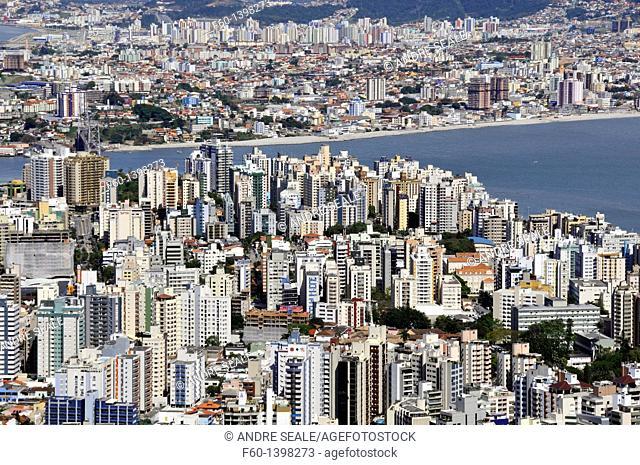 Connection between downtown Florianopolis Island and mainland, Santa Catarina, Brazil