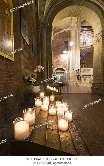 Inside the church of San Michele, Pavia, Lombardy, Italy