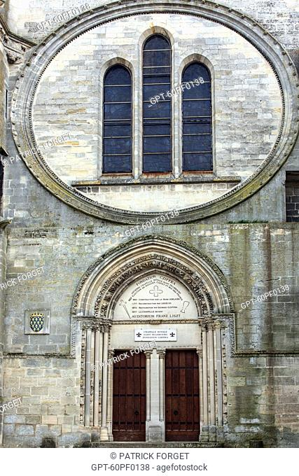 FACADE OF THE ROYAL CHAPEL OF SAINT-FRAMBOURG, FORMER CHURCH DEVOTED TO SAINT-FRAIMBAULT CONVERTED INTO A CONCERT SPACE, PROPERTY OF THE CZIFFRA FOUNDATION