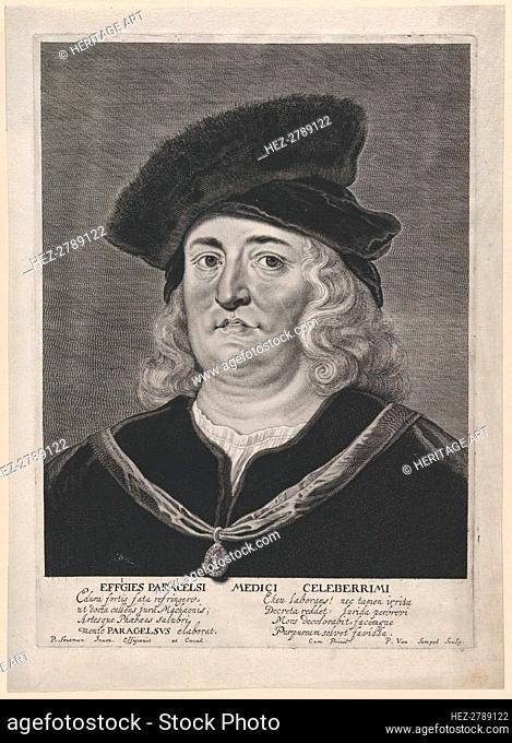 Portrait of Theophrastus Paracelsus, 1615-43. Creator: Pieter Soutman