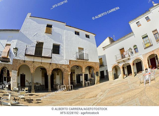 Plaza Chica, Small Square, Arcaded Square, Zafra, Badajoz, Extremadura, Spain, Europe