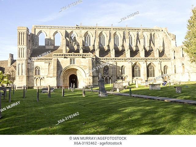 Malmesbury abbey church, Malmesbury, Wiltshire, England, UK