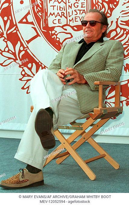 'Jack Nicholson Actor The Crossing Guard, Photocall, 52nd Venice International Film Festival Venice, Italy 03 September 1995 Im September 1995 Beim Photocall Zu...