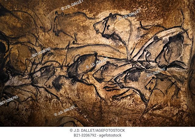France, Ardeche. Chauvet cave