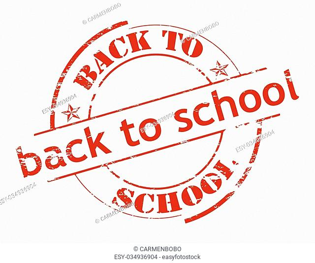Rubber stamp with text back to school inside, vector illustration