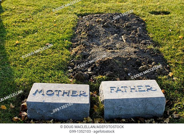 Canada, Ontario, Windsor. Family plot, Mother and Father