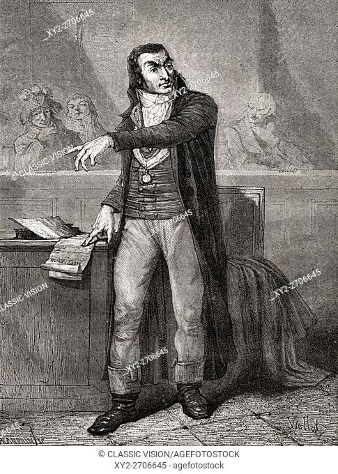 Antoine Quentin Fouquier-Tinville, 1746-1795. French revolutionary lawyer and public prosecutor of the Revolutionary Tribunal