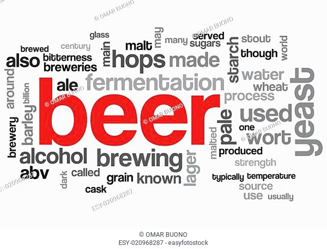 Beer Concept Design Word Cloud on White Background