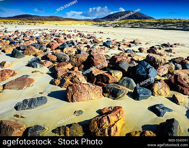 The beach at Ardroil, Isle of Lewis, Outer Hebrides, Scotland