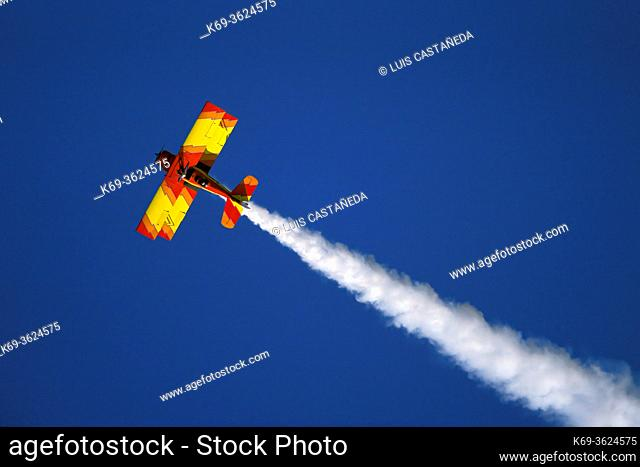 Acrobatic Airplane during an Air Show. . Colorado USA.