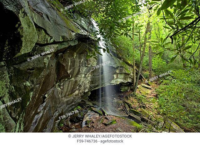Slick Rock Falls, Pisgah National Forest, Western NC, USA