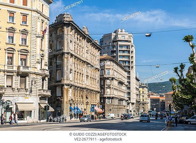 Via Carducci, Trieste, Friuli-Venezia Giulia, Italy