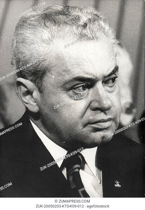 Feb 03, 2005; Paris, FRANCE; (File Photo: Date Unknown) President of The Communist Yugoslavia, STEVAN DORONJSK.  (Credit Image: © Keystone Press Agency/Keystone...