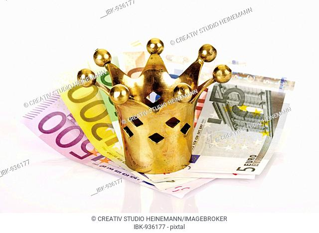 Golden crown on Euro notes