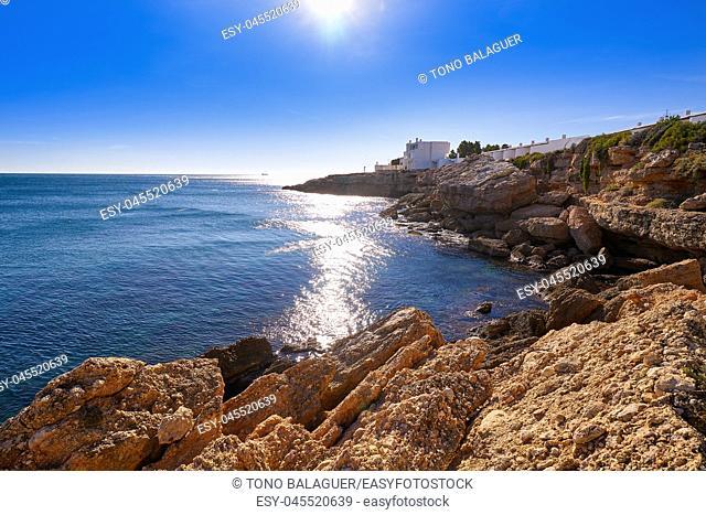 Cala Calafato Ametlla de mar beach in Costa dorada of Tarragona Catalonia L'ametlla