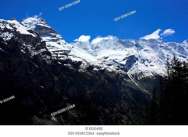 Swiss Alps landscape near Interlaken in Europe