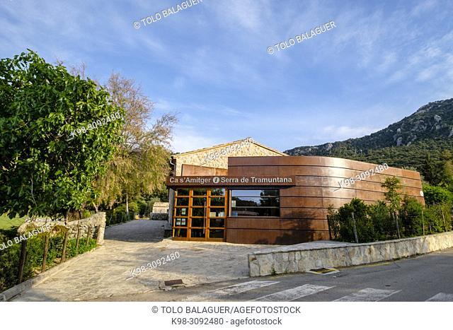 Centro de Interpretación de Ca s'Amitger, Escorca, Paraje natural de la Serra de Tramuntana, Mallorca, balearic islands, Spain