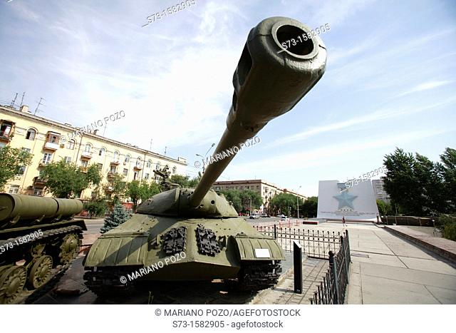 Tank in front the War Museum in Volgograd, Russian Federation