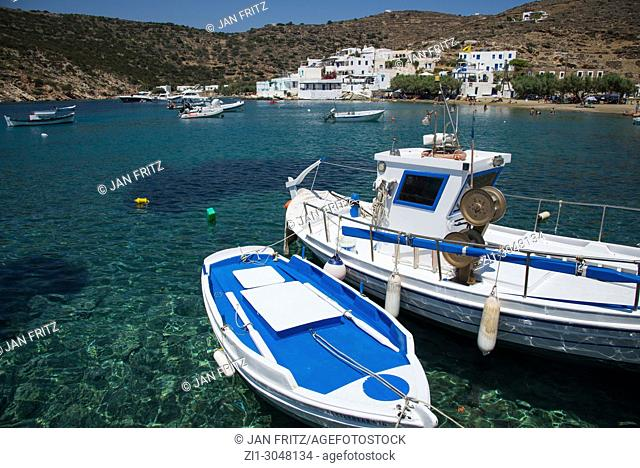 view at the bay of Glyphol at Sifnos, Greece