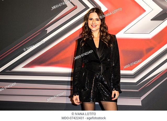 Ivana Lotito attends at the photocall of the final of X Factor Italia at Mediolanum forum in Milan. Milan (Italy), December 12th, 2019