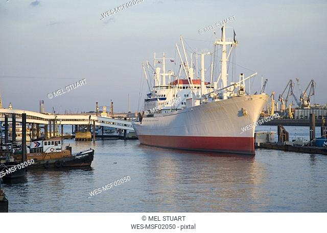 Germany, Hamburg harbour, museum ship, Cap San Diego