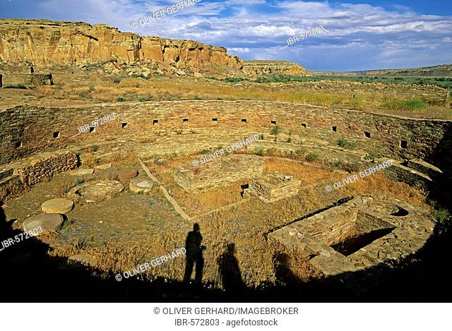 Excavated kiva, Chaco Culture National Historical Park, New Mexico, USA, America