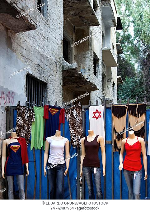 Mannequins in the streets of Tel Aviv. Tel Aviv, Israel, Asia