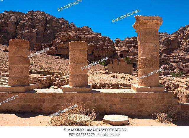 Ruins of Petra, World's UNESCO Heritage, Jordan