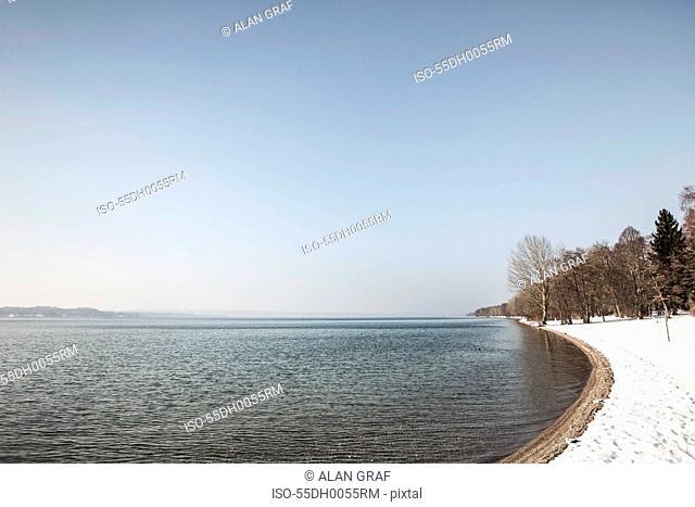 Lake and trees, Seeshaupt, Bavaria, Germany