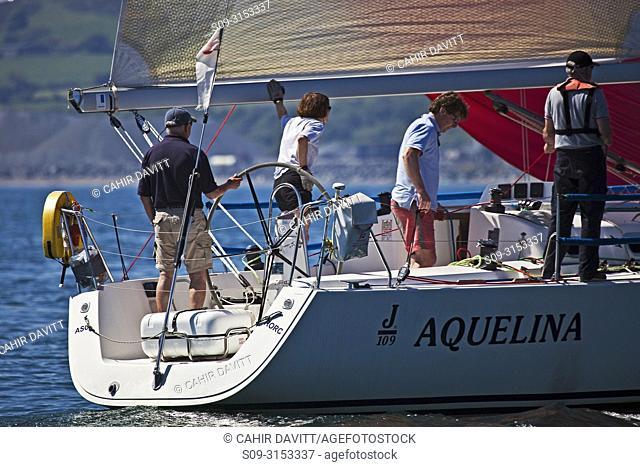 "Ireland, Wicklow Arklow, Ferrybank, """"Aquelina"""" J109, competing in the Met Masts Sailing Race 31/05/09"