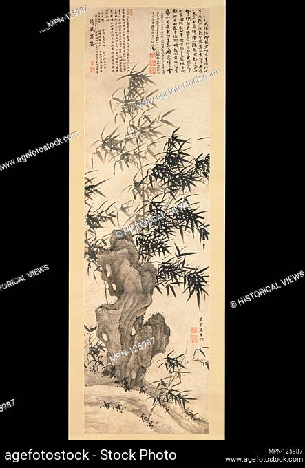 Bamboo in Wind. Artist: Xia Chang (Chinese, 1388-1470); Period: Ming dynasty (1368-1644); Date: ca. 1460; Culture: China; Medium: Hanging scroll; ink on paper;...