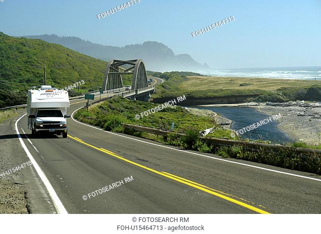 Florence, OR, Oregon, Pacific Ocean, Pacific Coast Scenic Byway, Rt Route, Highway 101, Roosevelt Beach, Big Creek Bridge