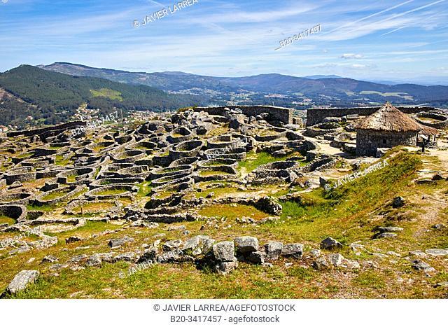Celtic village, Santa Tecla mountain, Castro of Santa Trega, A Guarda, Pontevedra, Galicia, Spain