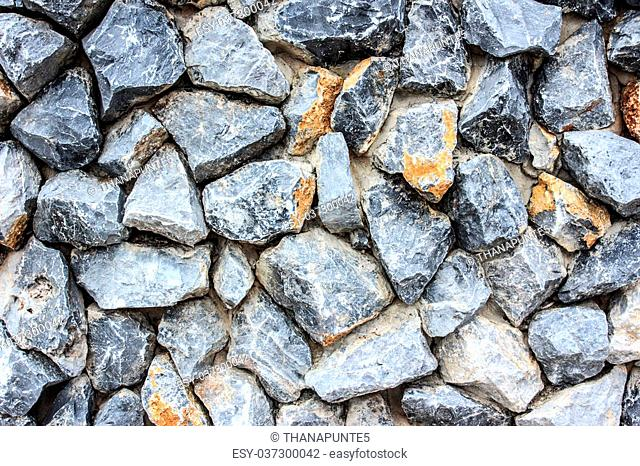 crushed natural stone wall background