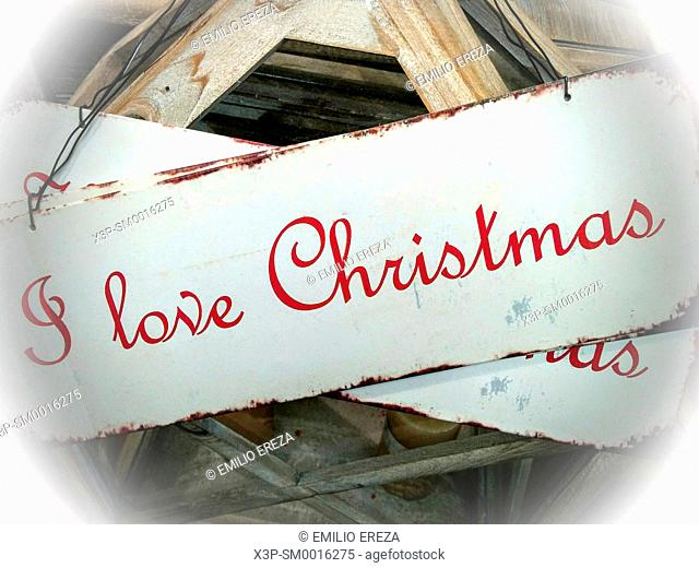 I love Christmas sign
