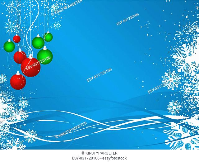 Decorative Christmas background with baubles