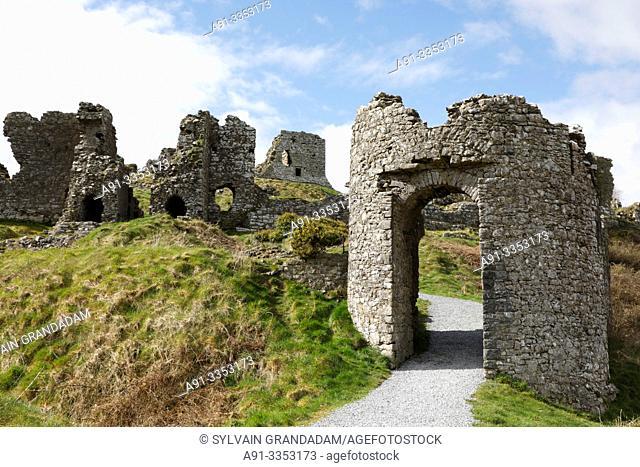 Ireland, dunamase, ruins of the dunamase normand fortress destroyed by Cromwell