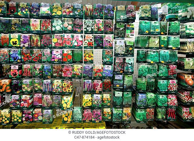 Gardening seeds on sale in a Gardening Center