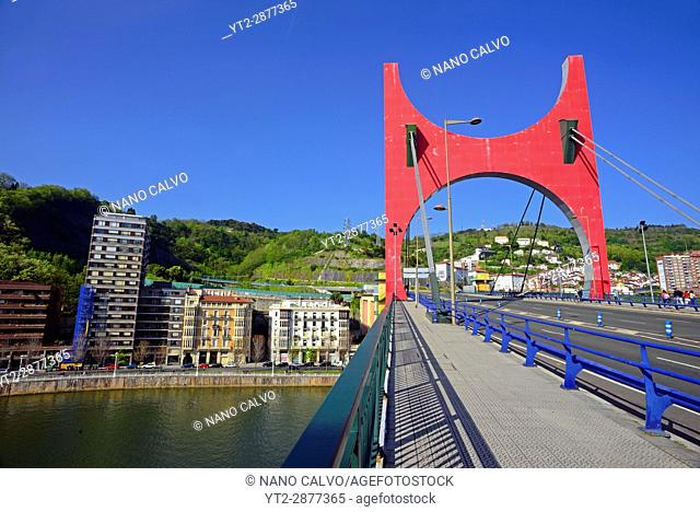 Nervion river and La Salve bridge next to the Guggenheim Museum Bilbao is a museum of modern and contemporary art, designed by Canadian-American architect Frank...