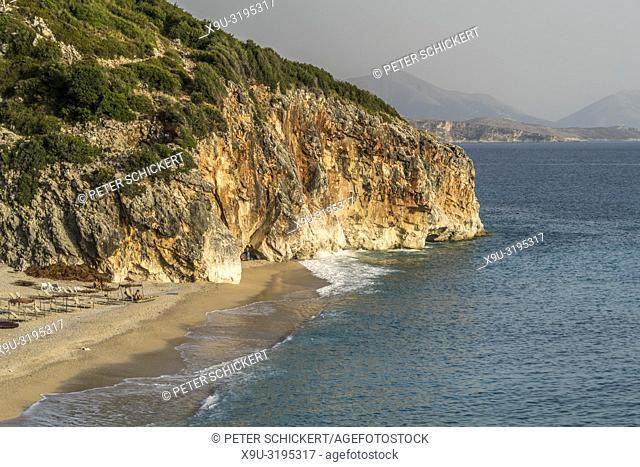 Gjipe Beach on the Albanian Riviera near Himara, Albania, Europe